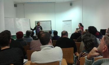 Max präsentiert die Ergebnisse vom Workshop Österr. Netzwerk-Gründung
