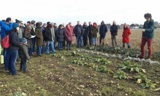 Peter Lassnig erzählt von den Anbaumethoden des Gärtnerhofs