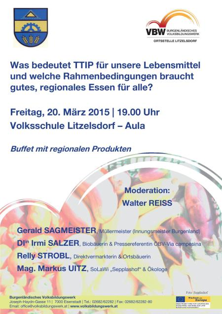 Veranstaltung 'Was bedeutet TTIP fuer unsere Lebensmittel'