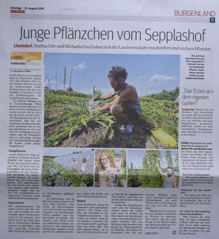 KURIER-ARTIKEL_Sepplashof_25.8.2019
